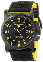 スイスレジェンド 時計 Swiss Legend Mens 40030-BB-01-YA Sportiva Black Textured Dial Black and Yellow<img class='new_mark_img2' src='https://img.shop-pro.jp/img/new/icons19.gif' style='border:none;display:inline;margin:0px;padding:0px;width:auto;' />
