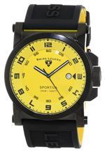 スイスレジェンド 時計 Swiss Legend Mens 40030-BB-07 Sportiva Yellow Textured Dial Black and Yellow