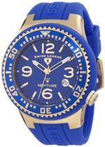 スイスレジェンド 時計 Swiss Legend Mens 21848P-YG-03 Neptune Blue Dial Blue Silicone Watch