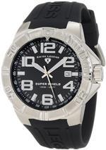 スイスレジェンド 時計 Swiss Legend Mens 40117-01 Super Shield Black Dial Watch