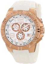 スイスレジェンド 時計 Swiss Legend Mens 40118-RG-02 Super Shield Chronograph White Dial Watch