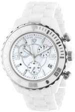 スイスレジェンド 時計 Swiss Legend Mens SL-30050-WWSR Karamica Collection Chronograph White Ceramic