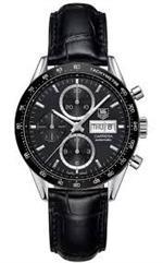 タグ ホイヤー 時計 Tag Heuer Carrera Automatic Chronograph Black Dial Black Leather Mens Watch<img class='new_mark_img2' src='https://img.shop-pro.jp/img/new/icons39.gif' style='border:none;display:inline;margin:0px;padding:0px;width:auto;' />
