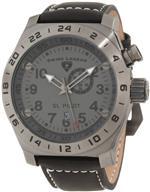 スイスレジェンド 時計 Swiss Legend Mens 22827-GM-014 SL Pilot Charcoal Grey Dial GMT Watch<img class='new_mark_img2' src='https://img.shop-pro.jp/img/new/icons22.gif' style='border:none;display:inline;margin:0px;padding:0px;width:auto;' />