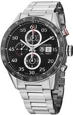 タグ ホイヤー 時計 Tag Heuer Carrera Black Dial Stainless Steel Automatic Chronograph Mens Watch<img class='new_mark_img2' src='https://img.shop-pro.jp/img/new/icons6.gif' style='border:none;display:inline;margin:0px;padding:0px;width:auto;' />