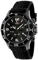 スイスプレシマックス 時計 Swiss Precimax Mens SP13060 Tarsis Pro Black Dial Black Rubber Band Watch