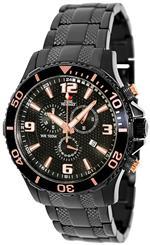 スイスプレシマックス 時計 Swiss Precimax Mens SP13229 Tarsis Pro Black Dial Black Stainless-Steel