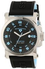 スイスレジェンド 時計 Swiss Legend Mens 40030-01-BBLA Sportiva Black Textured Dial Black Silicone