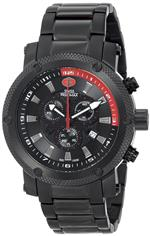 スイスプレシマックス 時計 Swiss Precimax Mens SP13084 Volt Pro Analog Display Swiss Quartz Black