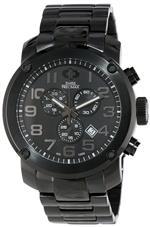 スイスプレシマックス 時計 Swiss Precimax Mens SP13014 Marauder Pro Black Dial with Black Stainless