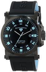 スイスレジェンド 時計 Swiss Legend Mens 40030-BB-01-BBLA Sportiva Black Textured Dial Black and