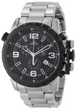 スイスプレシマックス 時計 Swiss Precimax Mens SP13144 Magnus Pro Black Dial with Silver Stainless