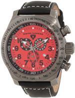 スイスレジェンド 時計 Swiss Legend Mens 22828-GM-05 SL Pilot Chronograph Red Dial Watch