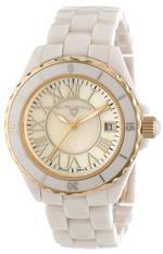 スイスレジェンド 時計 Swiss Legend Womens 20050-BGWGR Karamica Collection Beige/Gold Ceramic Watch