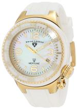 スイスレジェンド 時計 Swiss Legend Womens SL-11844-WWGA Neptune Goldtone White Mother-of-Pearl Dial