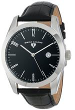 スイスレジェンド 時計 Swiss Legend Mens 22044-01 quotPennisulaquot Stainless Steel and Black Leather