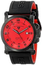 スイスレジェンド 時計 Swiss Legend Mens 40030-BB-05 Sportiva Red Textured Dial Black and Red
