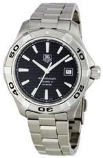 タグ ホイヤー 時計 TAG Heuer Mens WAP2010BA0830 Aquaracer Black Dial Watch