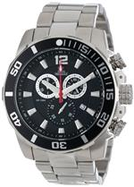 スイスプレシマックス 時計 Swiss Precimax Mens SP13249 Crew Pro Black Dial with Silver Stainless