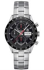 タグ ホイヤー 時計 Tag Heuer Carrera Automatic Chronograph Black Dial Stainless Steel Mens Watch
