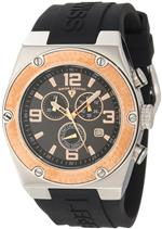 スイスレジェンド 時計 Swiss Legend Mens 30025-01-RB Throttle Chronograph Black Dial Watch