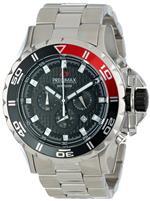 スイスプレシマックス 時計 Precimax Mens PX13234 Carbon Pro Black Dial with Silver Stainless Steel