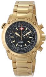 スイスプレシマックス 時計 Swiss Precimax Mens SP13077 Squadron Pro Black Dial with Gold