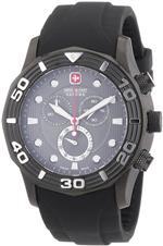 <img class='new_mark_img1' src='https://img.shop-pro.jp/img/new/icons25.gif' style='border:none;display:inline;margin:0px;padding:0px;width:auto;' />スイスミリタリー 時計 Swiss Military Hanowa Mens Oceanic 06-4196-30-009 Black Silicone Swiss