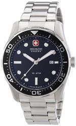 スイスミリタリー 時計 Swiss Military 6-5213.04.007 Mens Aqualiner Black and Silver Steel Watch<img class='new_mark_img2' src='https://img.shop-pro.jp/img/new/icons27.gif' style='border:none;display:inline;margin:0px;padding:0px;width:auto;' />