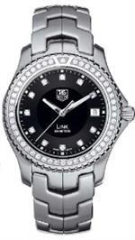 タグ ホイヤー 時計 TAG Heuer Link Series Mens Diamond Bezel Swiss Watch WT111P.BA0550
