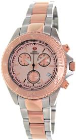 スイスプレシマックス 時計 Swiss Precimax Womens SP12183 Manhattan Elite Rose-Gold Dial Two-Tone