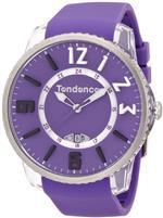 テンデス 時計 Tendence Slim- Pop Unisex Quartz Watch with Purple Dial Analogue Display and Purple<img class='new_mark_img2' src='https://img.shop-pro.jp/img/new/icons37.gif' style='border:none;display:inline;margin:0px;padding:0px;width:auto;' />