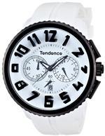 テンデス 時計 Tendence Gulliver Round Black amp White Mens Quartz Watch 02046017
