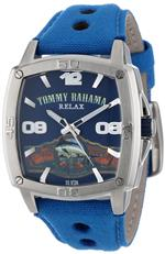 トミー バハマ 時計 Tommy Bahama RELAX Mens RLX1193 Panel Back Custom Script Logo Blue and Blue<img class='new_mark_img2' src='https://img.shop-pro.jp/img/new/icons34.gif' style='border:none;display:inline;margin:0px;padding:0px;width:auto;' />