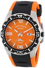 トミー バハマ 時計 Tommy Bahama RELAX Mens RLX1154 Reef Guard Diving Bezel Orange Dial Polyurethane