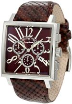 トミー バハマ 時計 Tommy Bahama Swiss Mens TB1206 Silver Palms Square Swiss Analog Chronograph Watch
