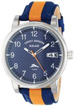トミー バハマ 時計 Tommy Bahama RELAX Mens RLX1211 Beach Cruiser Round Field Case Blue Dial Strap