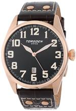 トーゲン 時計 Torgoen Swiss Mens T28105 T28 3-Hand Rose Aviation Watch
