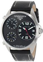 トーゲン 時計 Torgoen Swiss Mens T08101 Triple Time Zone Carbon Fiber Leather Strap Watch<img class='new_mark_img2' src='https://img.shop-pro.jp/img/new/icons2.gif' style='border:none;display:inline;margin:0px;padding:0px;width:auto;' />