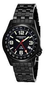 トーゲン 時計 TORGOEN Swiss T05208 Mens 42mm Aviation Watch with 24Hr Dual Time Zone GMT and Black<img class='new_mark_img2' src='https://img.shop-pro.jp/img/new/icons16.gif' style='border:none;display:inline;margin:0px;padding:0px;width:auto;' />