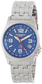 トーゲン 時計 Torgoen Swiss Womens T05602 Zulu Time Stainless Steel Watch