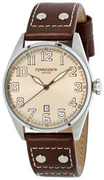 トーゲン 時計 Torgoen Swiss Mens T28103 T28 3-Hand Stainless-Steel Aviation Watch