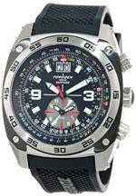 トーゲン 時計 Torgoen Swiss Mens T07301 Pilot Computer Dual-Time Zone Polyurethane Strap Watch