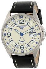 トーゲン 時計 Torgoen Swiss Mens T25104 T25 GMT Stainless-Steel Date Aviation Watch