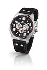 ティーダブルスティール 時計 TW Steel Pilot Chronograph Black Leather Mens Watch TW414