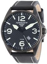 トーゲン 時計 Torgoen Swiss Mens T10105 T10 Stainless-Steel Case Carbon Aviation Watch