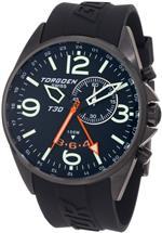 <img class='new_mark_img1' src='https://img.shop-pro.jp/img/new/icons7.gif' style='border:none;display:inline;margin:0px;padding:0px;width:auto;' />トーゲン 時計 Torgoen Swiss Mens T30301 T30 Series Classic Black Aviation Watch