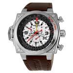 トーゲン 時計 Torgoen Swiss Mens T12101 T12 E6B Aviation Stainless Steel Brown Leather Watch