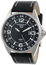 トーゲン 時計 Torgoen Swiss Mens T25102 T25 GMT Stainless-Steel Date Aviation Watch