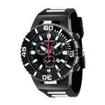 トーゲン 時計 Torgoen Swiss Mens T24305 T24 Black 20 ATM Chronograph Dive Watch